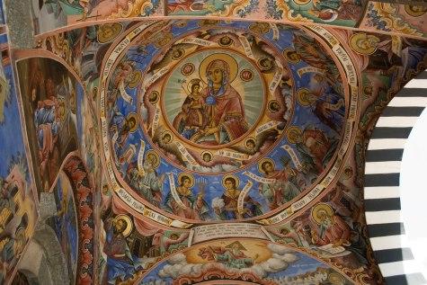 Imágenes interior Monasterio de Rila